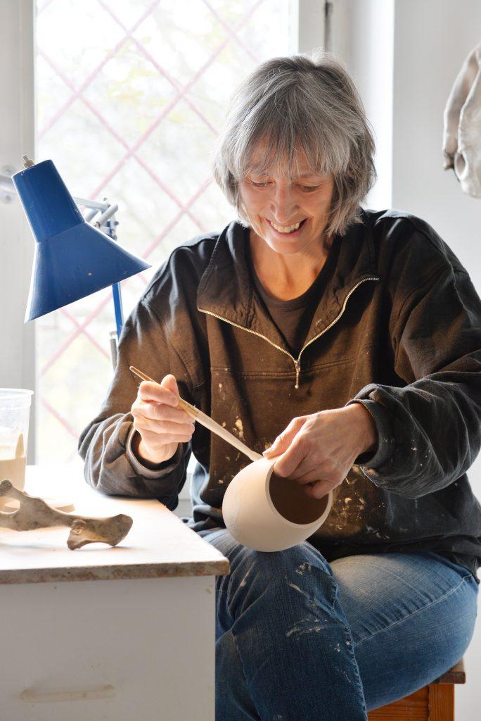 Henriette Lempp bei der Arbeit